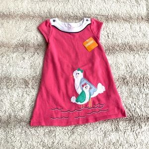 Gymboree 2T Pink Seagull Short Sleeve Dress